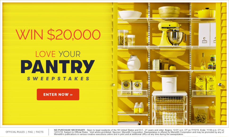 Love Your Pantry $20,000 Sweepstakes