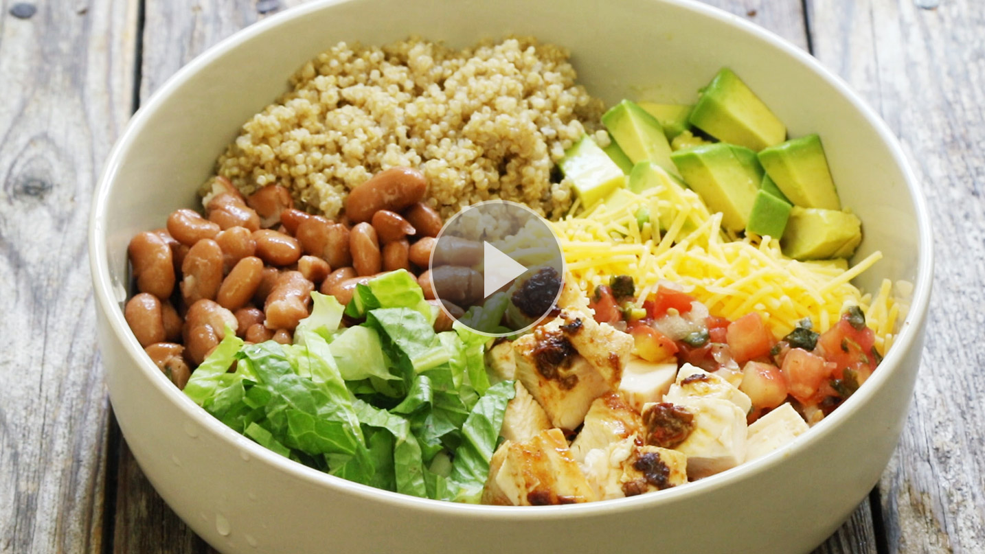 How to Make Chipotle Chicken Quinoa Burrito Bowls