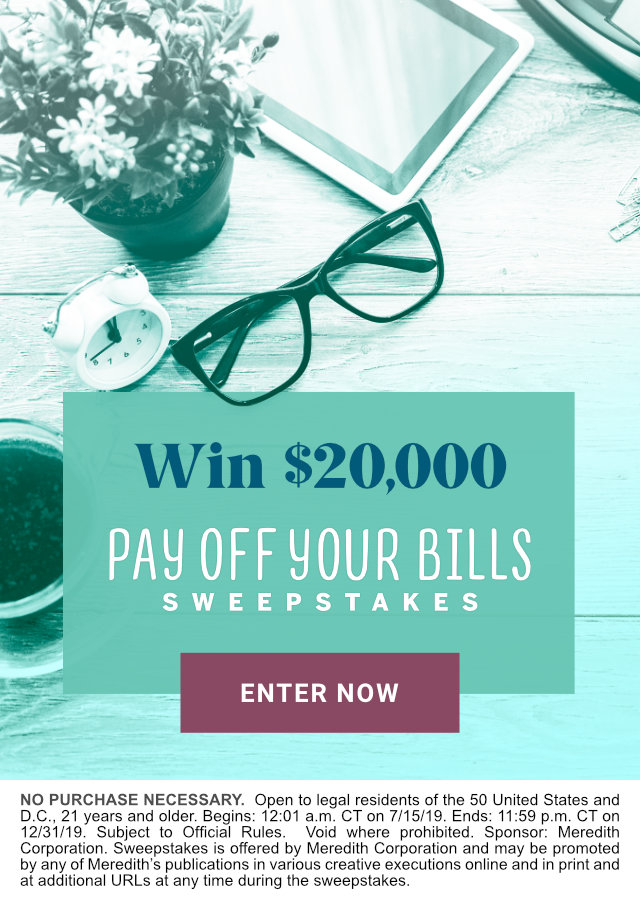 Pay Off Your Bills $20,000 Sweepstakes