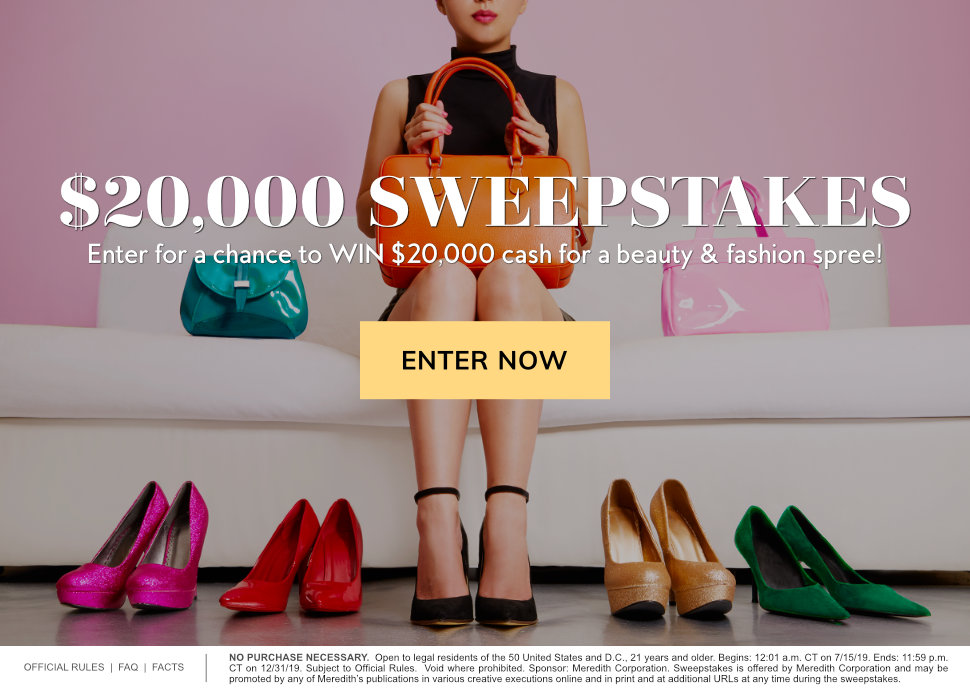 $20,000 Sweepstakes 2019 | InStyle com