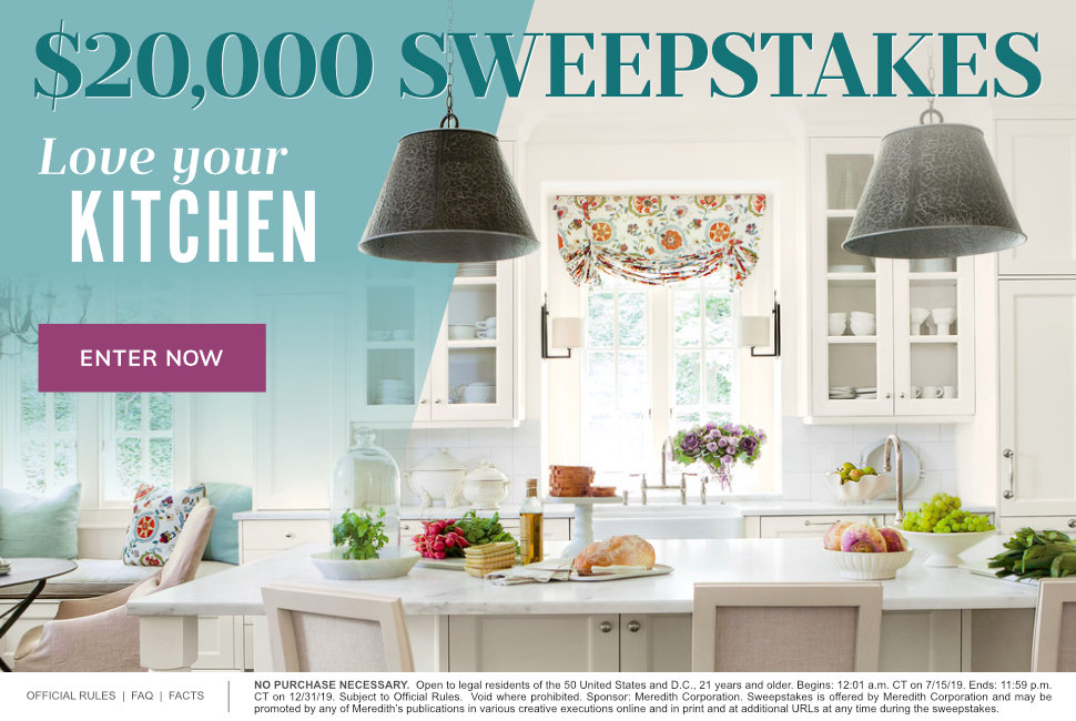 Love Your Kitchen $20,000 Sweepstakes