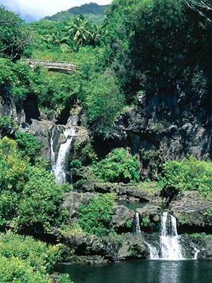 Hawaii_Oahuhana Small Water fall