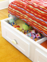 roll-out storage trundle in Ultimate Nursery