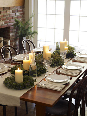 Holiday table d�cor