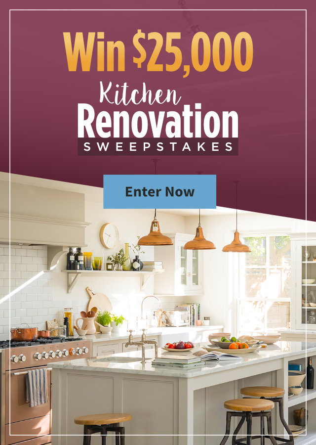Kitchen Renovation $25,000 Sweepstakes