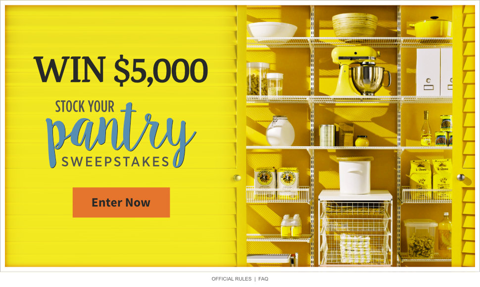 Stock Your Pantry $5,000 Sweepstakes