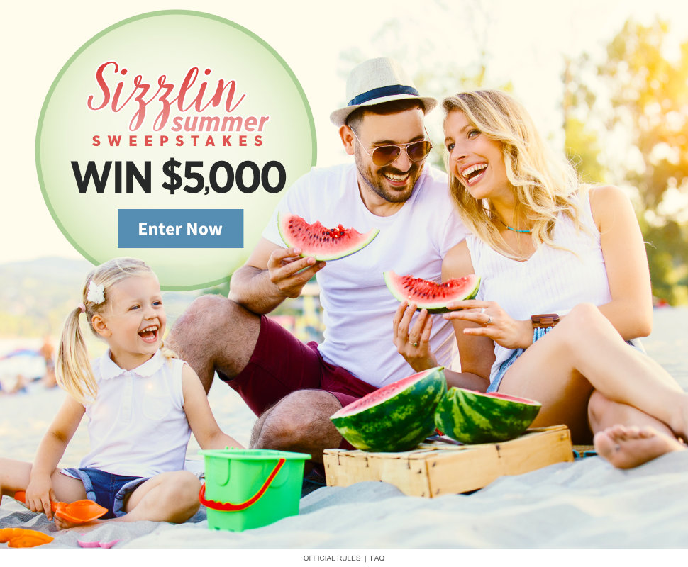 Sizzlin Summer $5,000 Sweepstakes