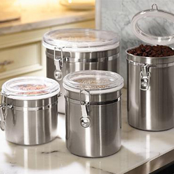 Stainless Steel Canisters - Set of 4