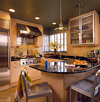 Kitchen with Maple Laminate Cabinets