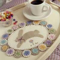 softer mat with cup and bowl