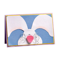Wire Whiskers Bunny Card