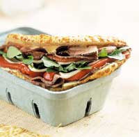 Roast Beef and Red Pepper Sandwich