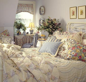 home bedroom flowers decorating
