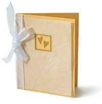 Gold and Vellum Card