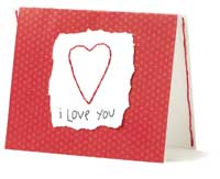 Sewing Heart Card