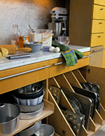 Specialized Under-Counter Storage Drawers