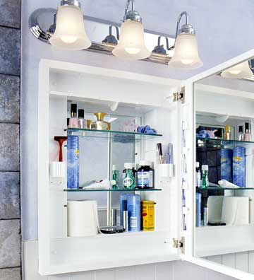 medicine cabinets with lights