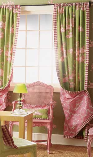 two pairs of unlined drapes