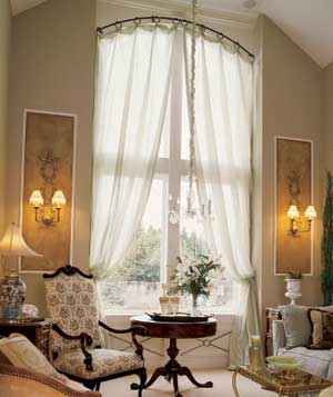 CURTAIN FOR TALL WINDOW | BLIND CURTAIN MAKING