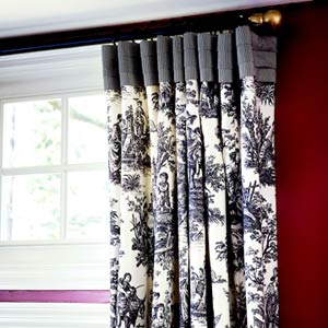 Flat panel pleated drapery header