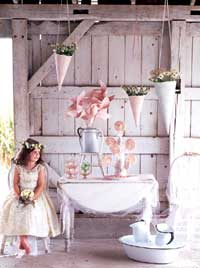 Rustic Barn with Romantic Decorations