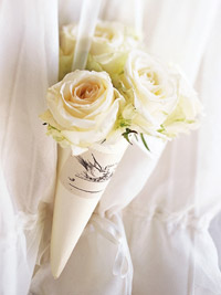 Fresh White Rose Bouquet