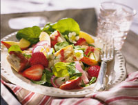 Grilled Chicken Salad with Strawberry-Balsamic Dressing