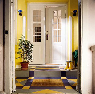 brighten any porch foyer or mudroom with a floor you design