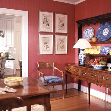 Use red in rooms where activity occurs, like a family room