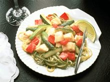 Lime-Sauced Fish and Cucumbers
