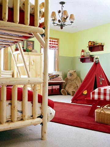 Bunk beds tent bear