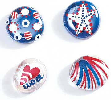 Pride pins/magnets - glass marbles P_dopins3
