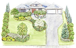 pictures of large front yard landscaping