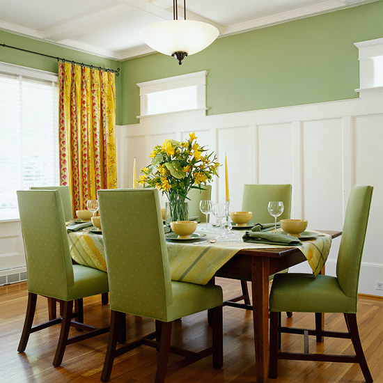 Dining Area With Wainscoting ~ Diy board and batten tutorial dining room four