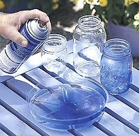 Step 2: blue glass votive how-to