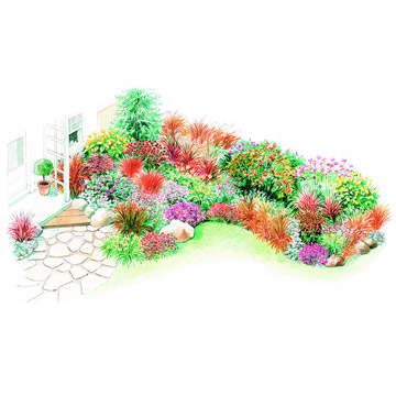Fall Garden Plan Illustration