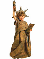 Kid in Statue of Liberty Costume