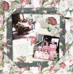 Floral Framed Page with Ribbons and Photo