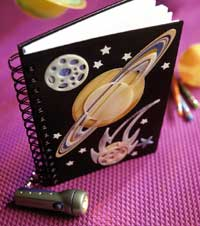 Outerspace Glow in the Dark Journal