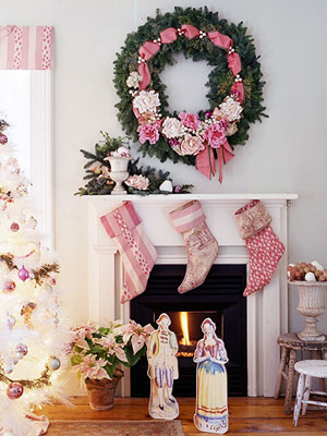 Wreath Over Fireplace