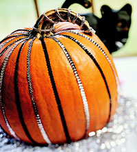 Sequin Striped Pumpkin