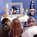 Children enjoying puppet-show