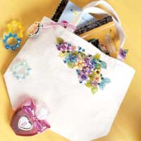 Tiny decorated tote