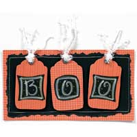 Boo Halloween Lettering