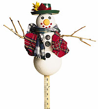 ruler with snowman