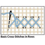 Basic Cross-Stitches in Rows