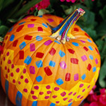 Sponge Painted Pumpkin