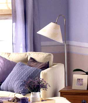 and color of walls are lavendar , please suggest color for curtains
