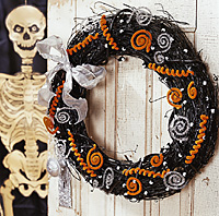 Halloween Greeting Wreath