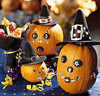 Decorated Halloween Party Pumpkins Centerpiece